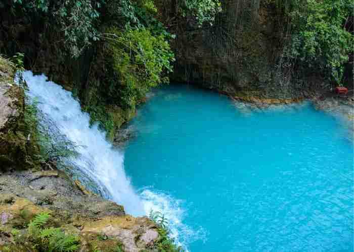 菲律賓遊學必玩必去觀光Kawasan Fall秘境瀑布跳水