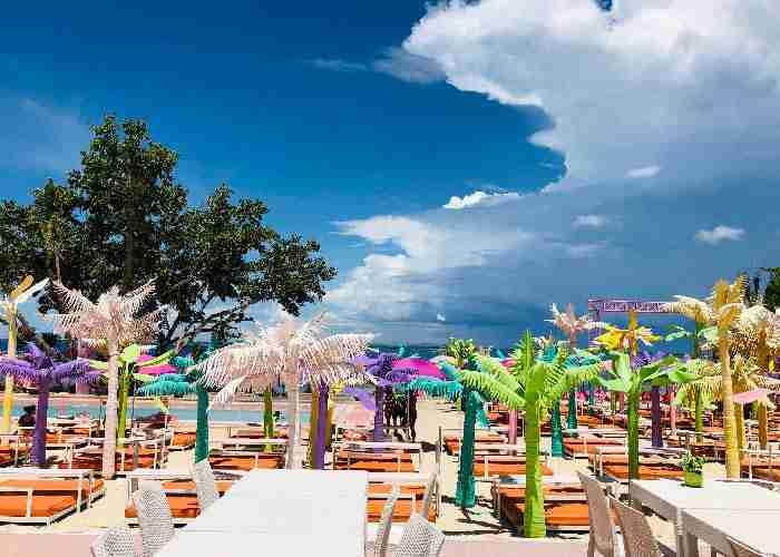 菲律賓遊學必玩必去觀光Happy Beach 水上充氣樂園
