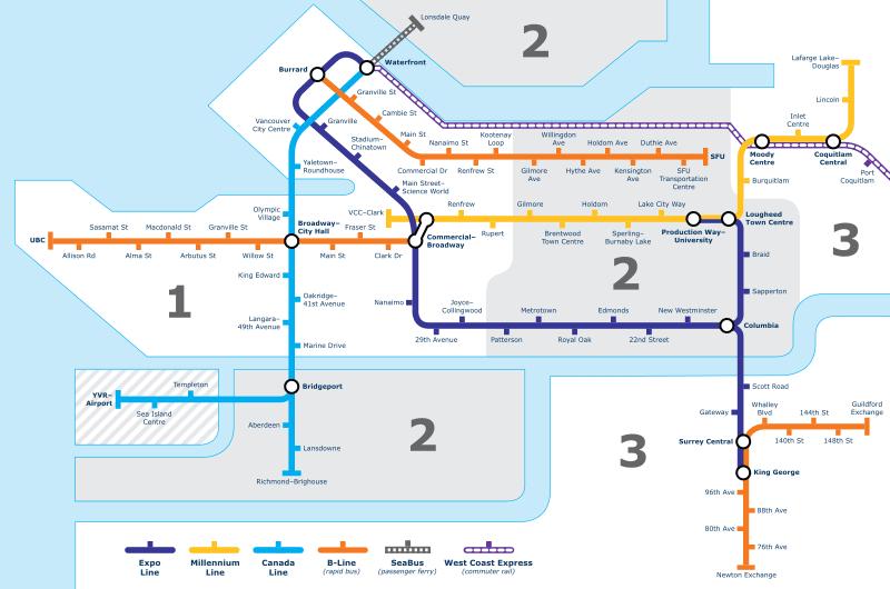 溫哥華_公共交通圖